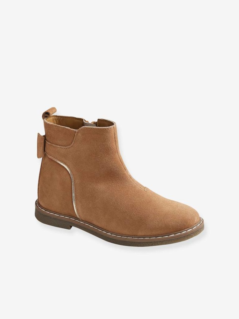 boots cuir fille
