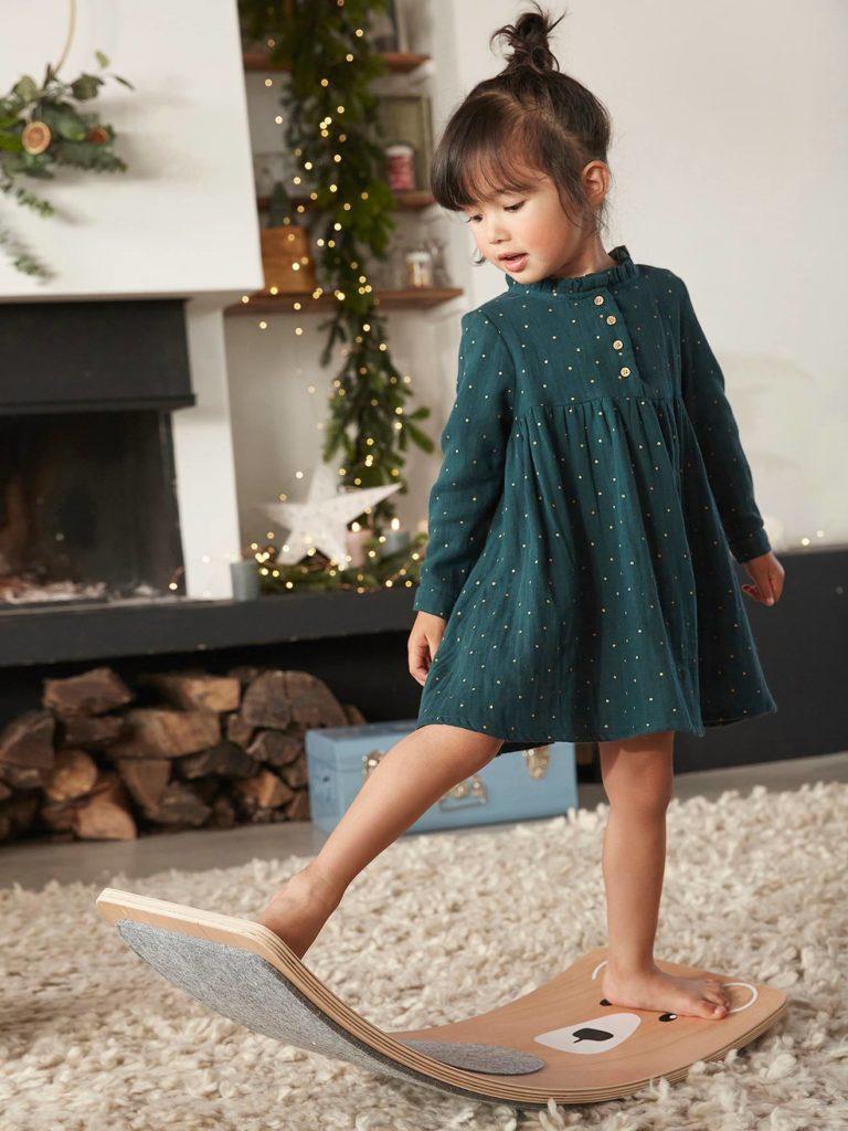 robe imprime en gaze de coton fille