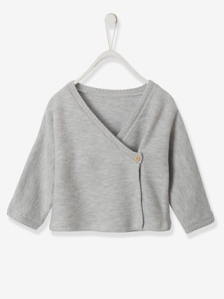 brassiere bebe en coton et laine
