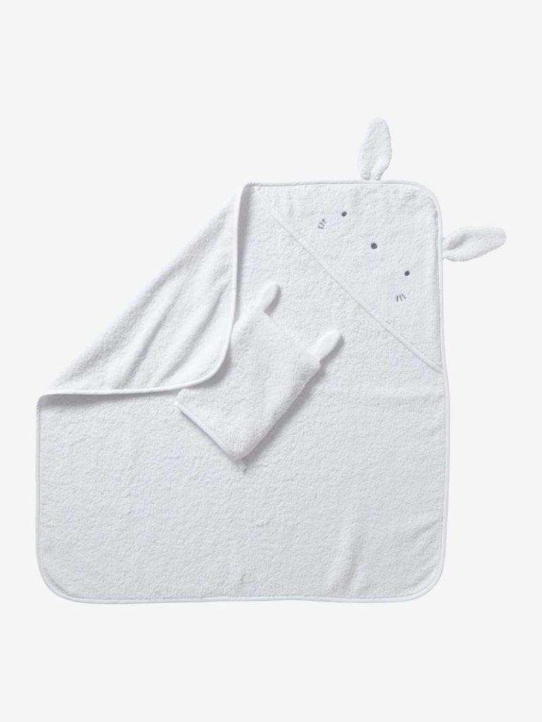 cape de bain gant coton bio